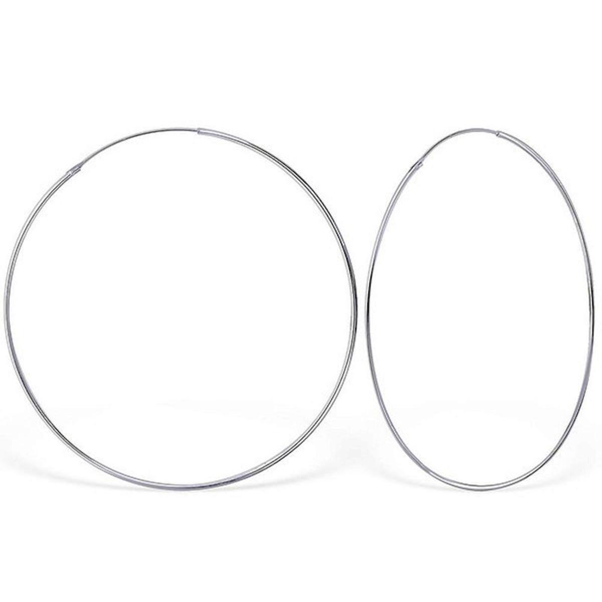 Boucles d'oreilles Créoles 70mm Argent 925