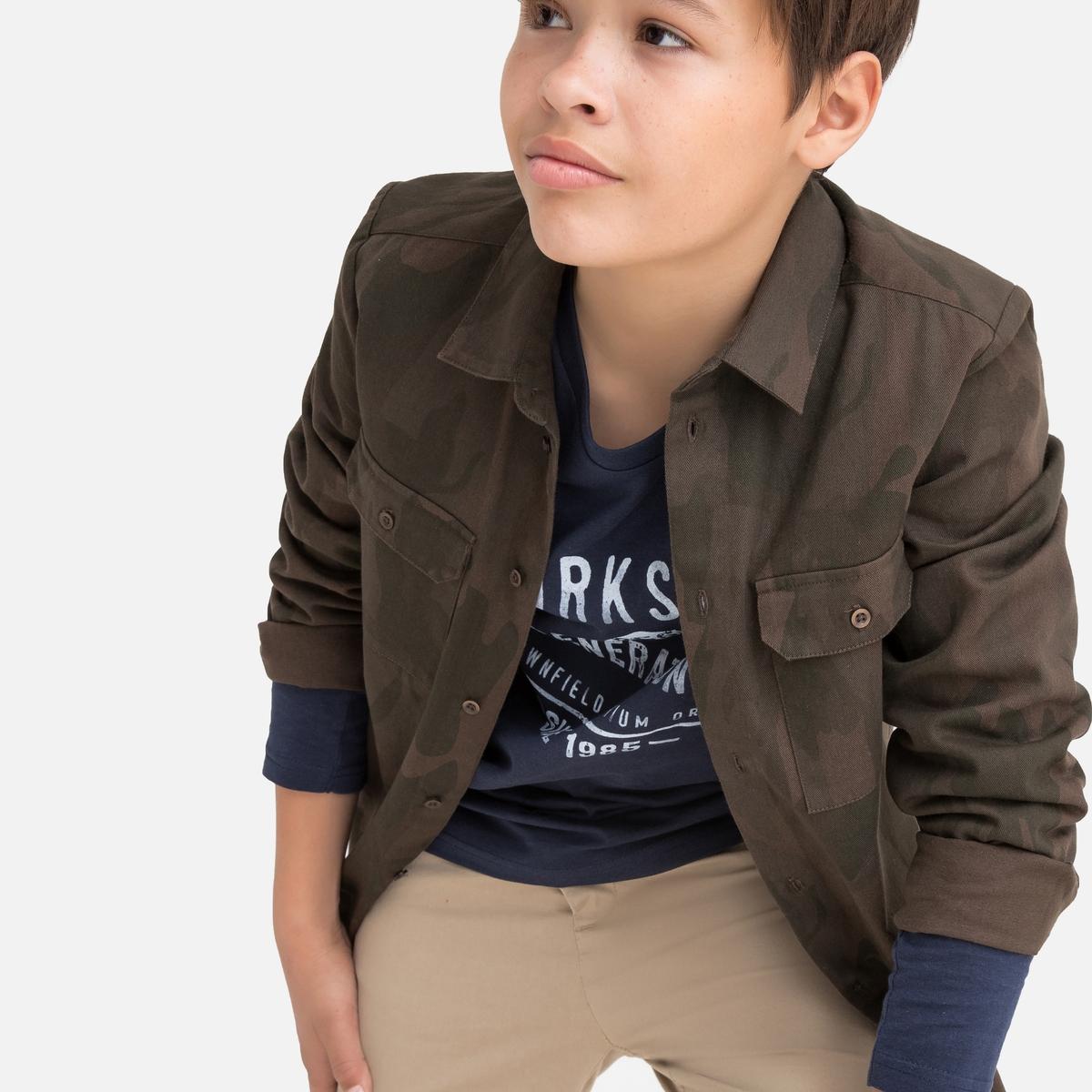 Рубашка La Redoute С камуфляжным рисунком 10-16 лет 16 - 174 см разноцветный