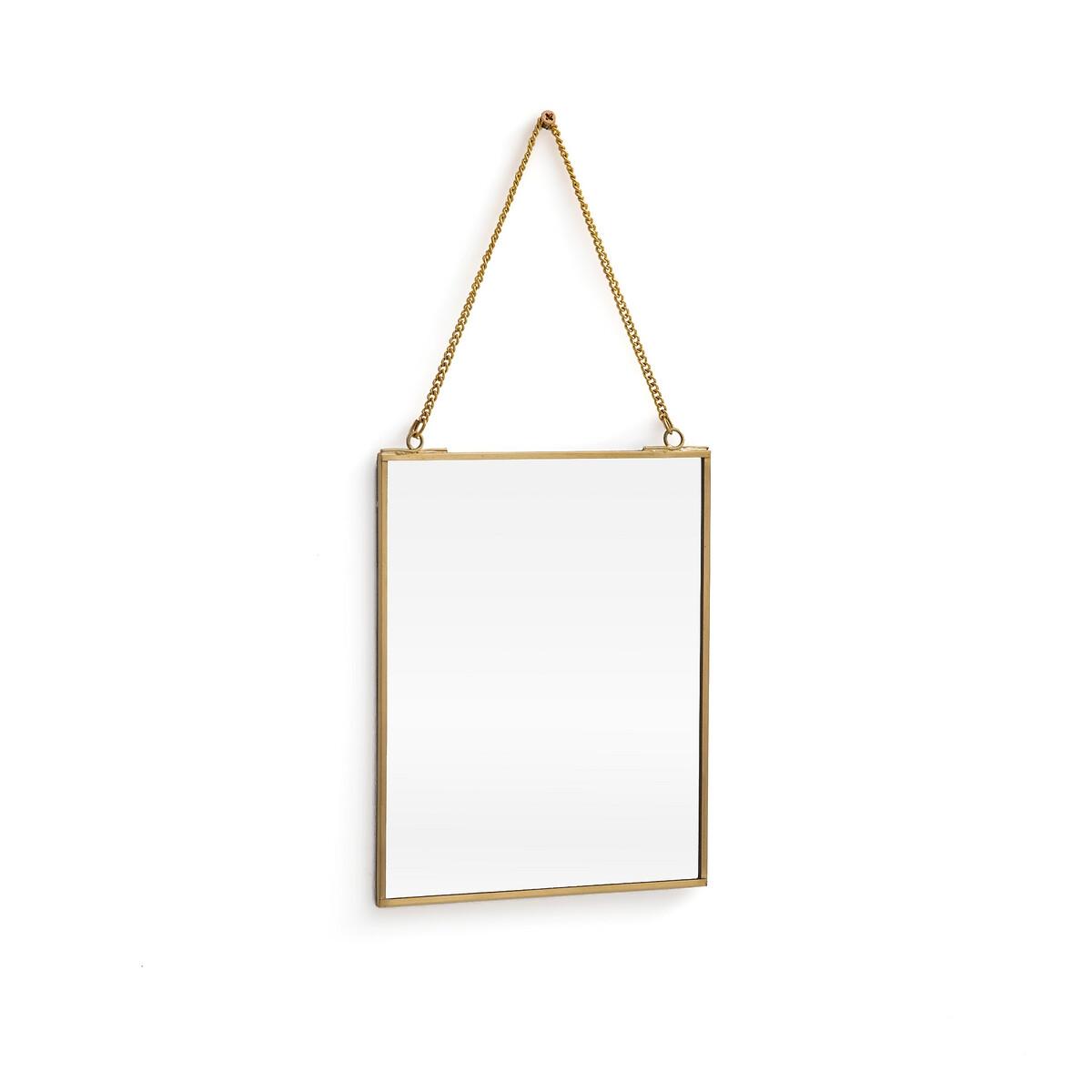 Зеркало La Redoute Прямоугольной формы Uyova единый размер желтый