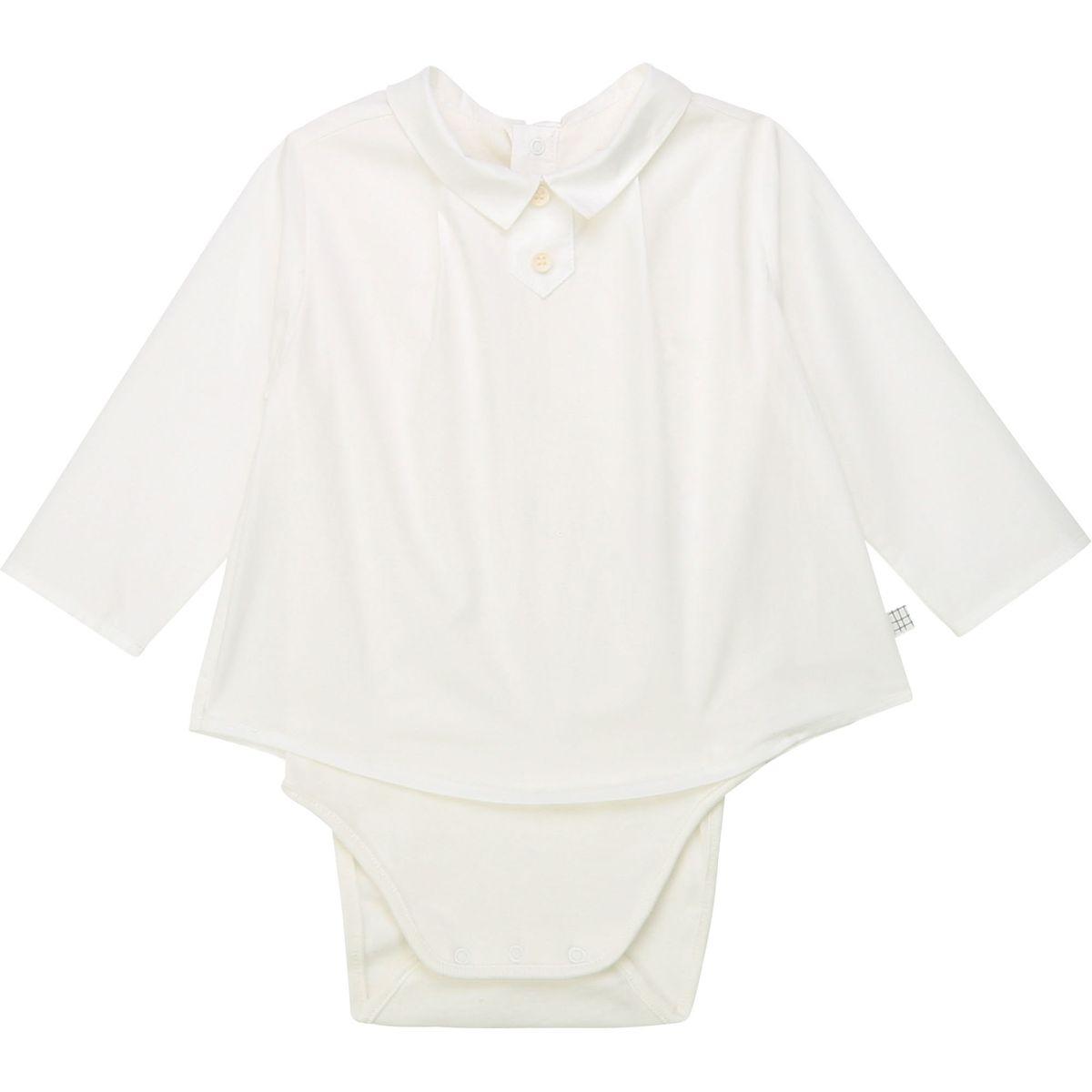 Body coton façon chemise