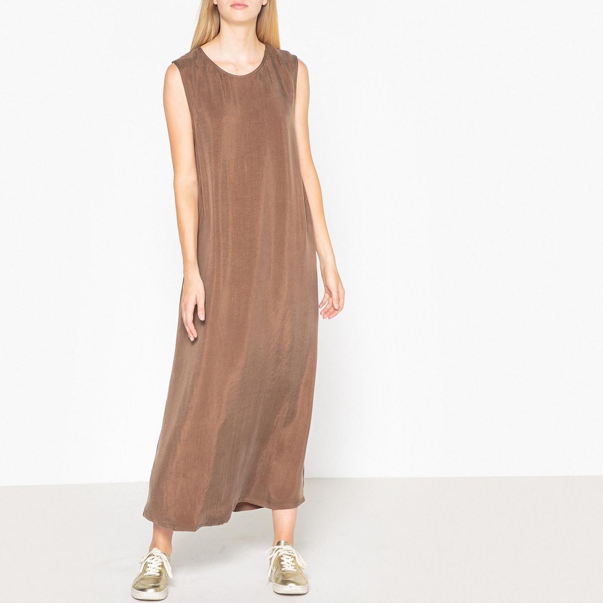 Длинное платье прямого покроя без рукавов MEADOW