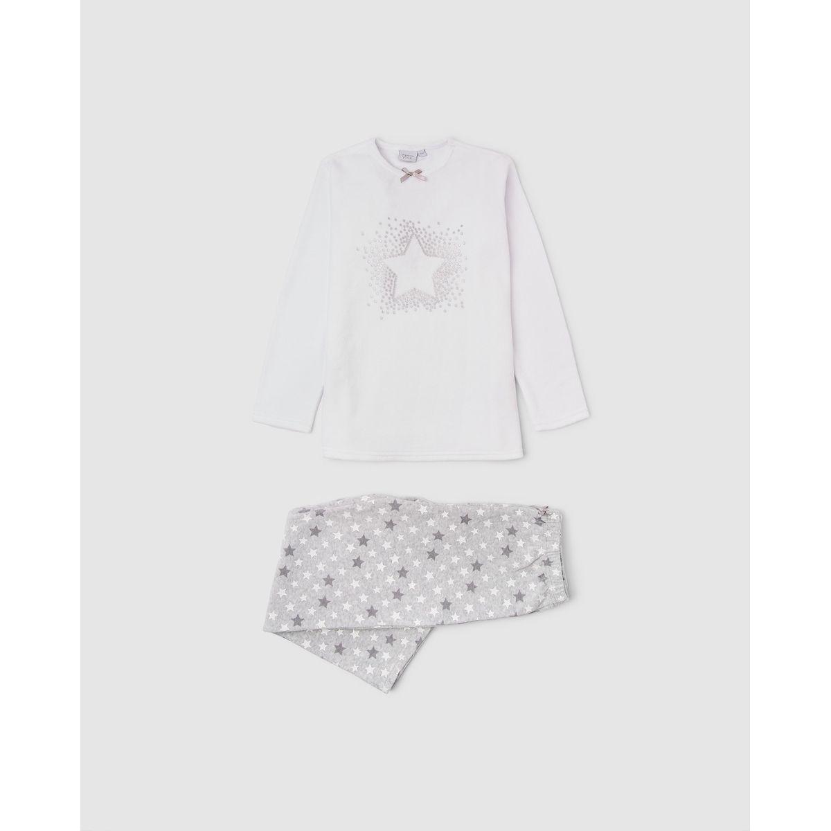 Pyjama Cotton Juice gris à motif