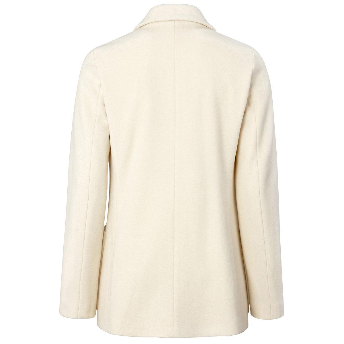 Жакет, 100% шерстиЖакет из 100% шерсти. Двубортная планка застежки. 1 карман спереди. 2 накладных кармана. Длина 71 см..<br><br>Цвет: фуксия,экрю<br>Размер: 42 (FR) - 48 (RUS).38 (FR) - 44 (RUS)