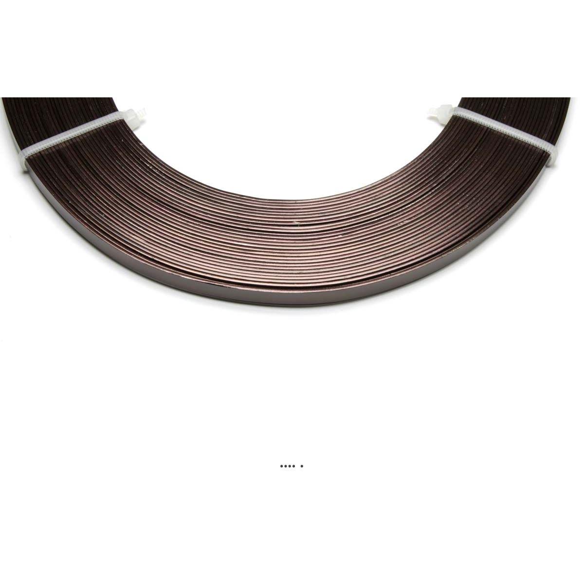 Fil aluminium Plat Chocolat souple lg 5 mm L 10 metres decoration - choisissez votre coloris: Chocolat