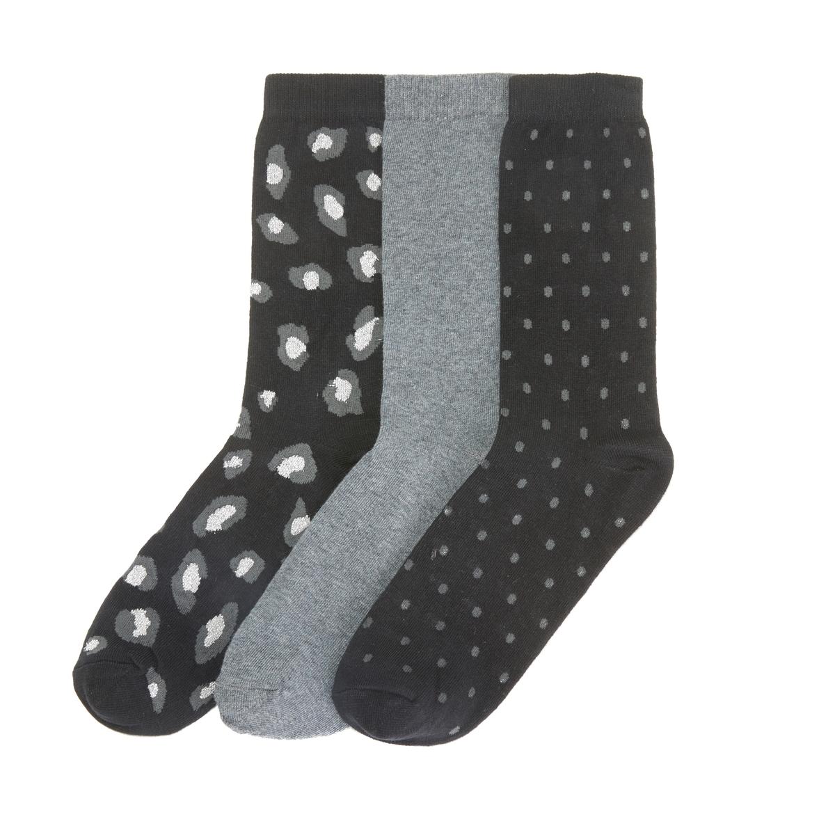 Набор La Redoute Из пар носков 35/37 черный цены онлайн