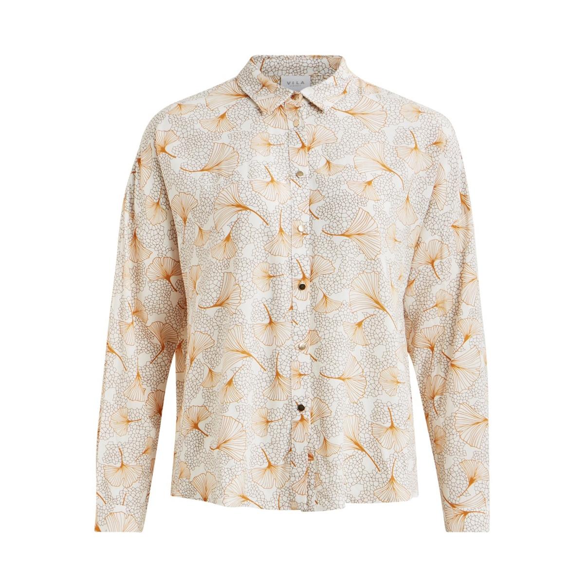 Camisa com estampado folhas