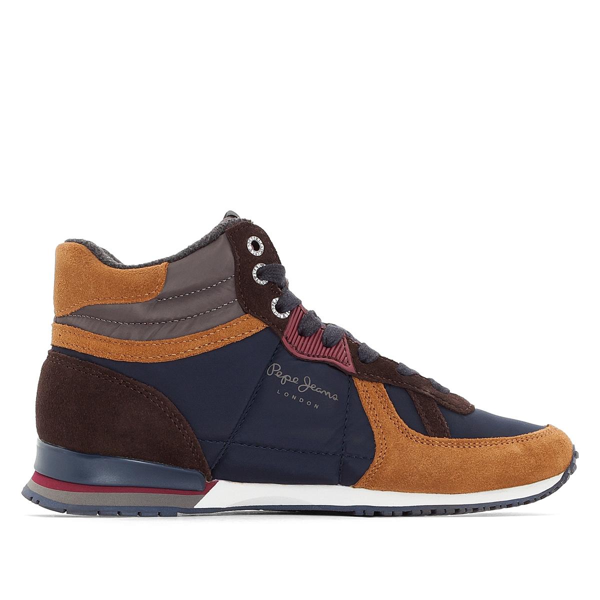 Кеды высокие SYDNEY BootsОписание:Детали  •  Кеды высокие •  Спортивный стиль •  Плоский каблук •  Застежка : шнуровка.Состав и уход  •  Верх 70% синтетического материала, 30% замши •  Подкладка 35% хлопка, 65% текстиля •  Стелька 100% текстиль •  Подошва 100% каучук<br><br>Цвет: темно-синий<br>Размер: 37
