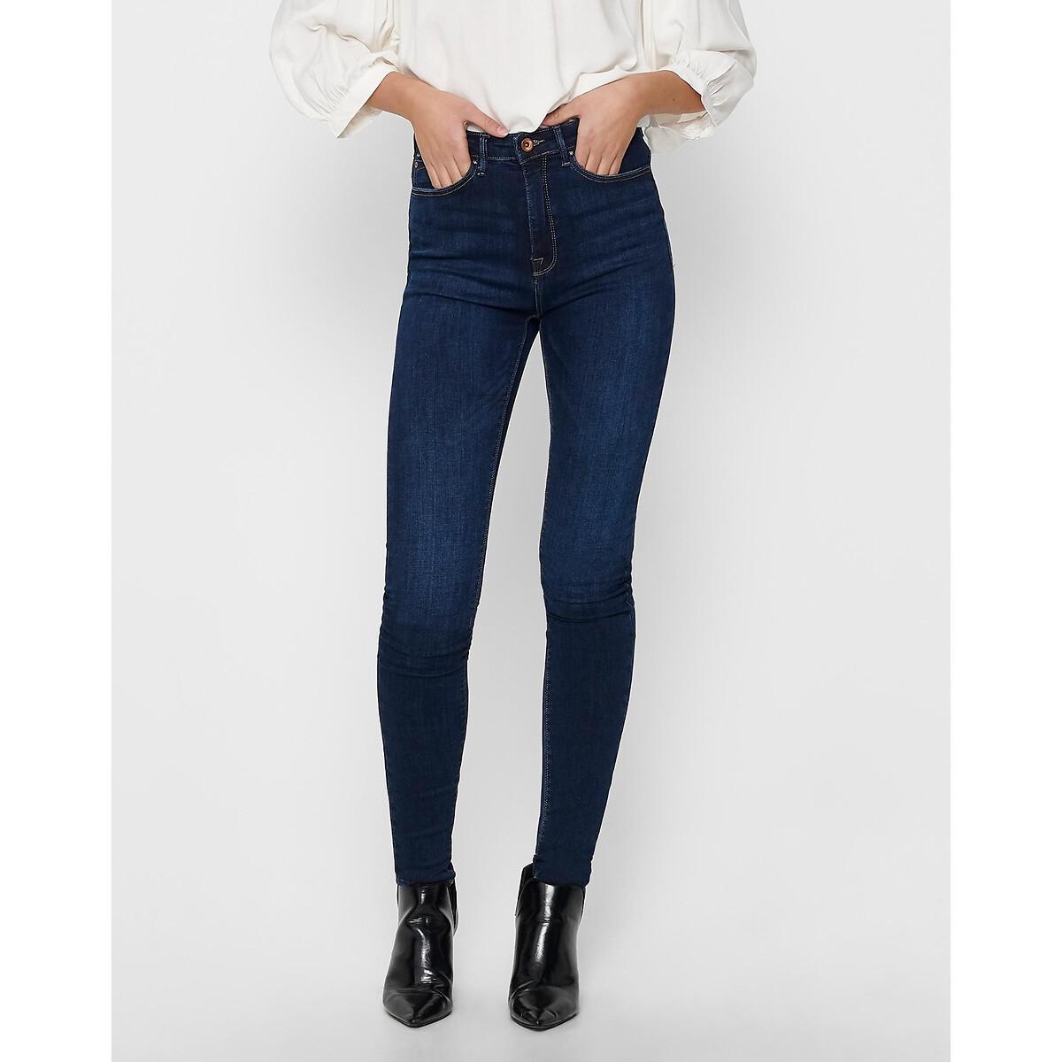 Фото - Джинсы LaRedoute Скинни с завышенной талией L / длина 32 синий джинсы laredoute скинни длина 30 s черный