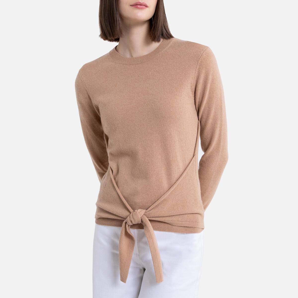 Пуловер La Redoute Из преобладания шерсти и кашемира L бежевый