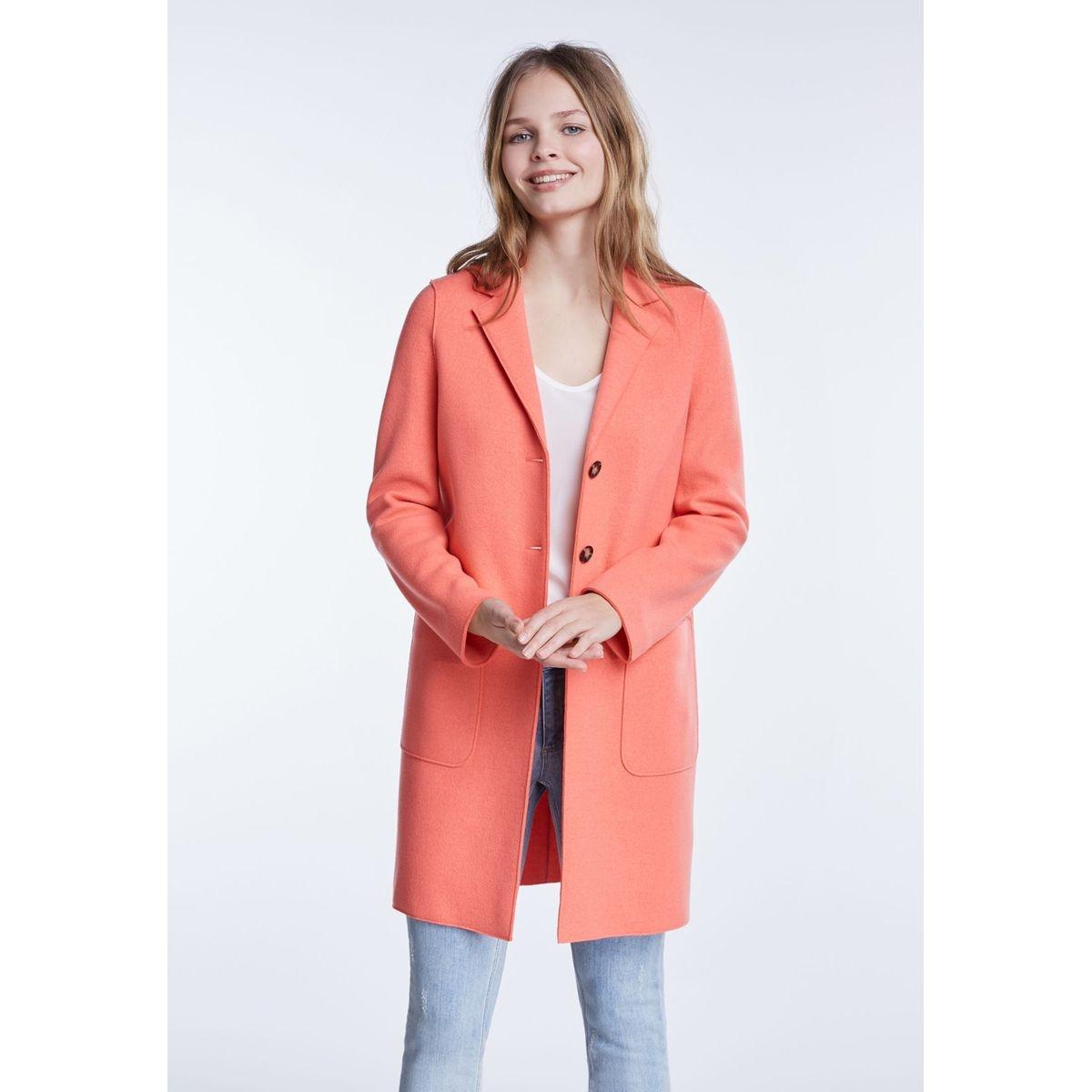 Manteau en laine col chemise