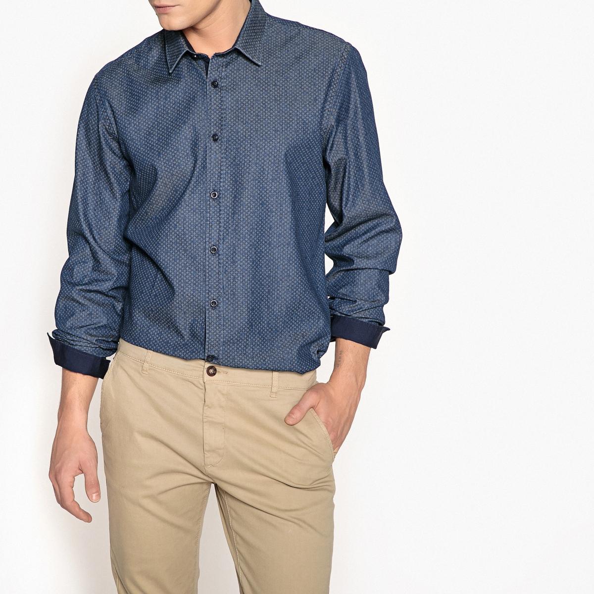 Camisa estampada de manga larga