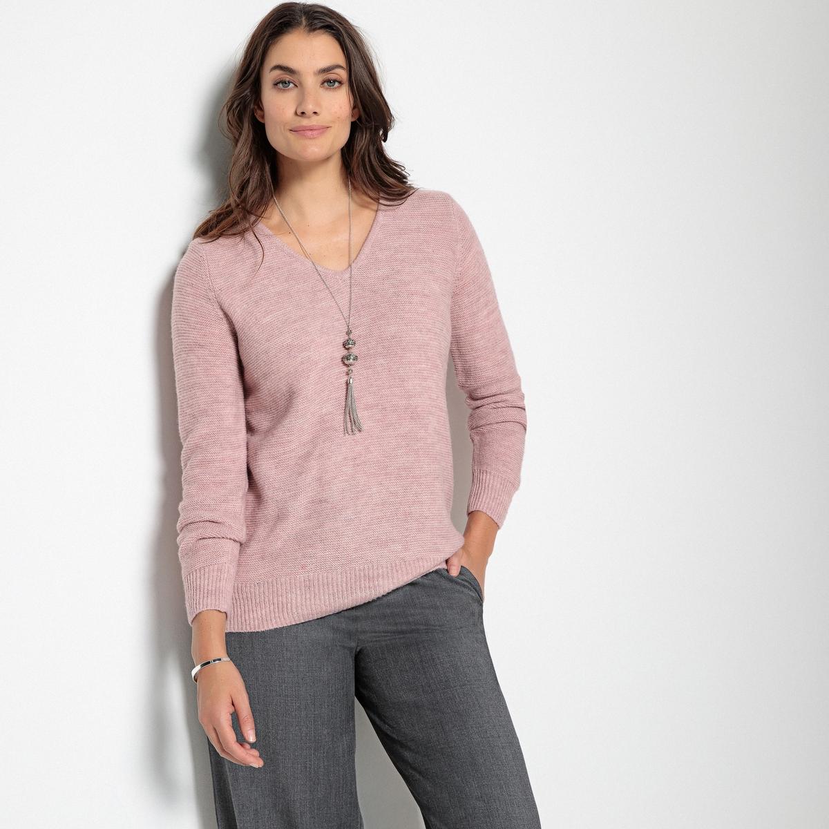Imagen adicional 3 de producto de Jersey con cuello de pico, punto grueso - Anne weyburn
