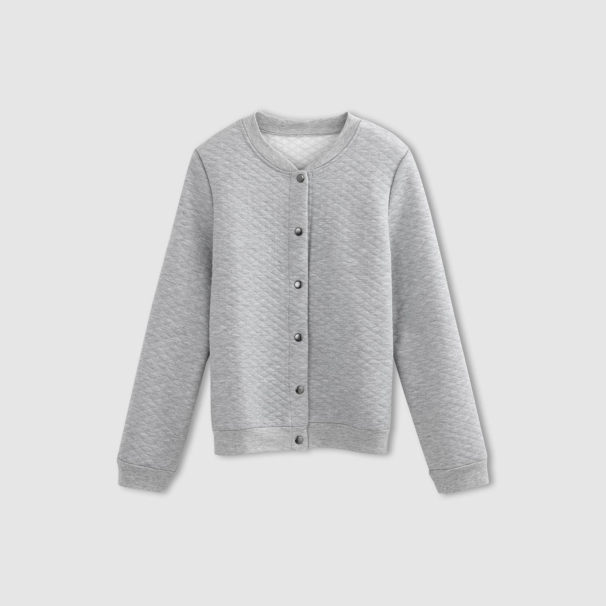 Куртка-бомбер стеганаяСостав и описание :Материал : 100% полиэстераМарка :      R ?ditionУходСтирка при 30° с одеждой подобного цвета  - Стирать и гладить с изнанкиГладить на низкой температуре<br><br>Цвет: серый меланж