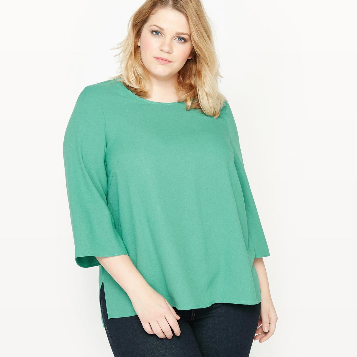 Блузка с объемными плечами