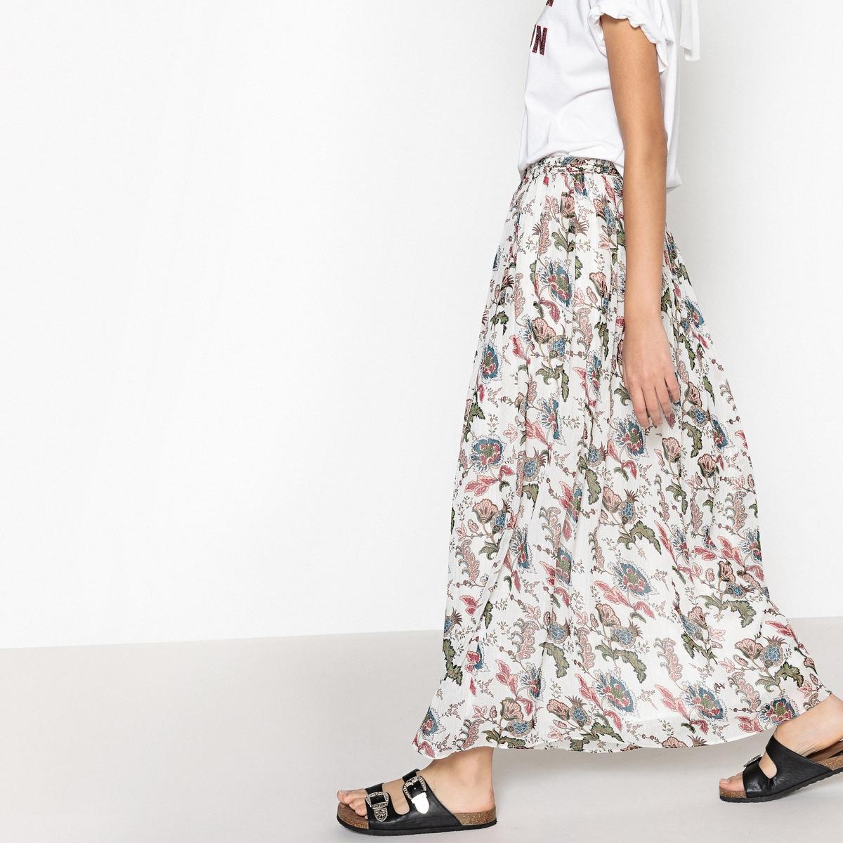 Юбка-миди с цветочным принтом FELIX