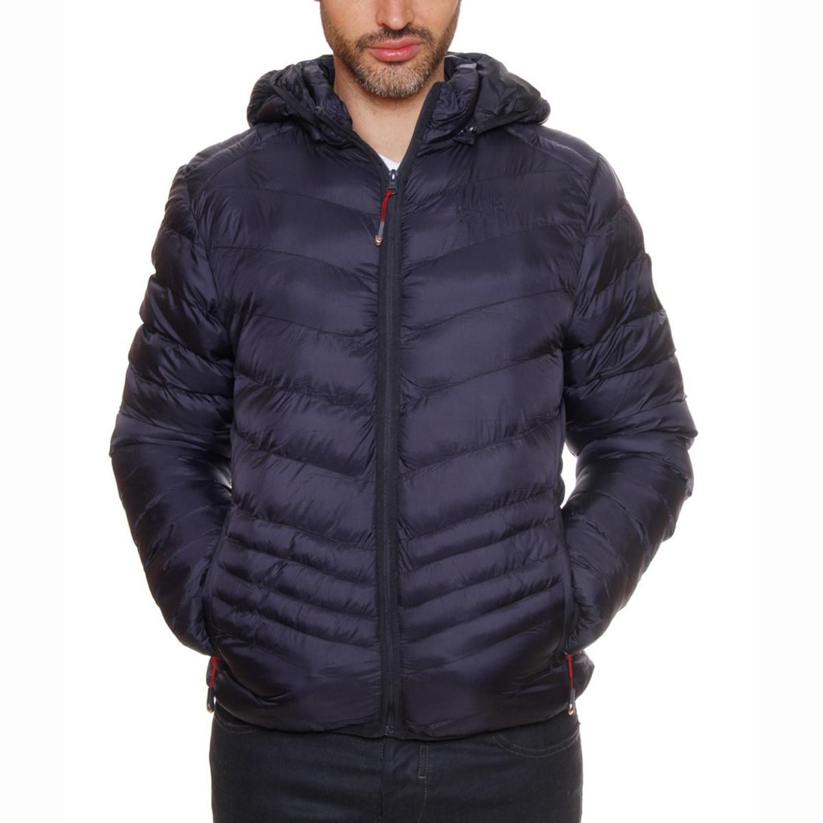 Стеганая куртка с капюшоном Chicore HoodСостав и описание :Материал :  100% полиамида.Марка : GEOGRAPHICAL NORWAY<br><br>Цвет: темно-синий