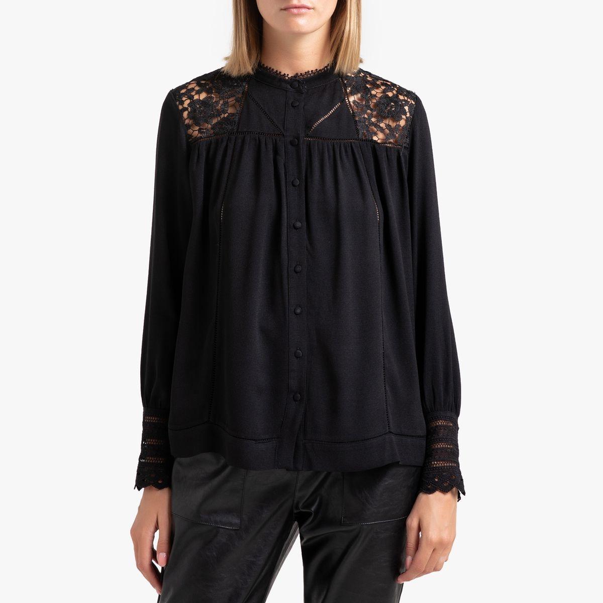 Chemise à manches longues avec dentelle LYNDSEY