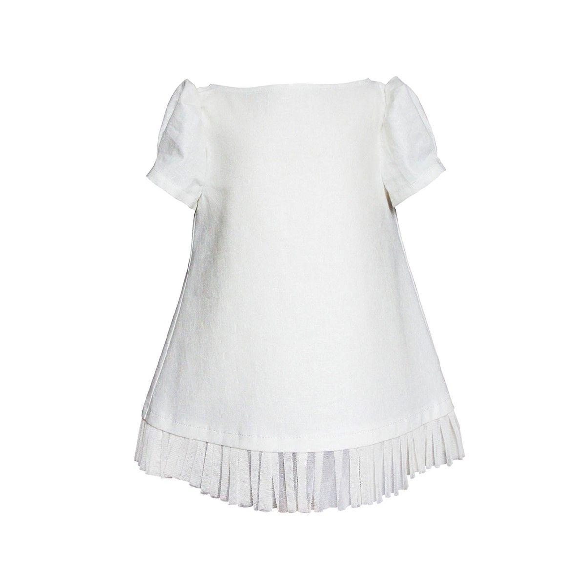 Robe cérémonie bébé lin coton made in france