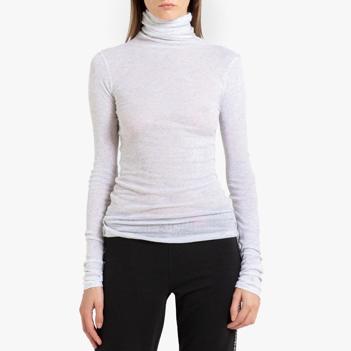 Футболка La Redoute С отворачивающимся воротником и длинными рукавами MASSACHUSETTS M серый футболка женская oodji ultra цвет серый 14707001 7 46154 23a0z размер m 46