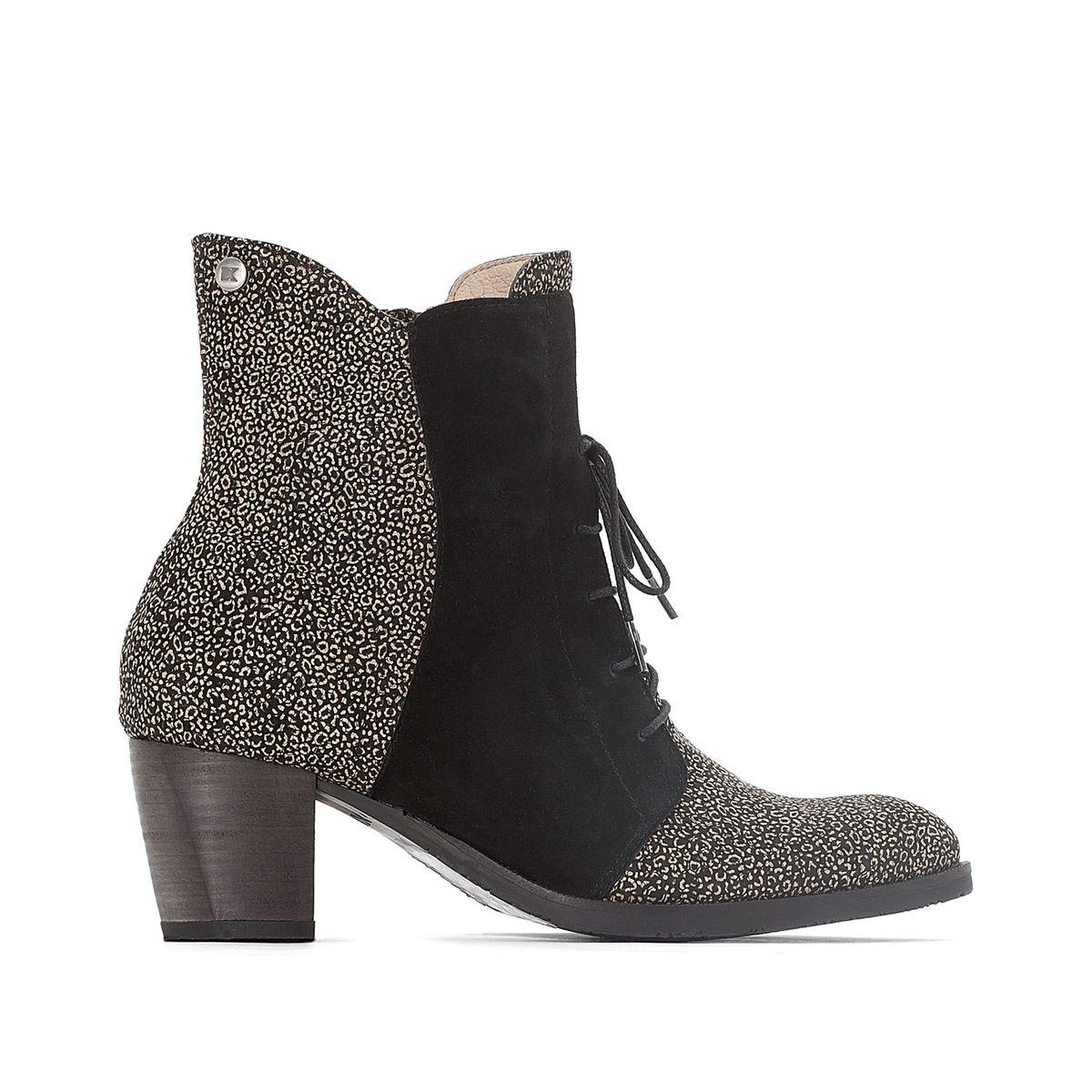 Boots cuir kitten heel