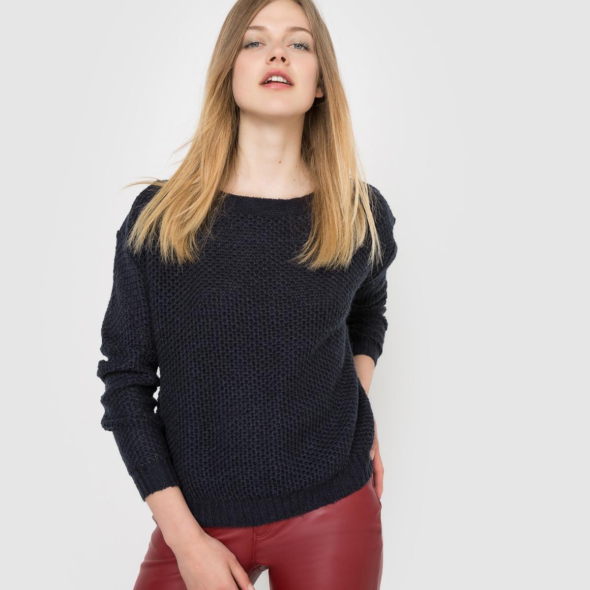 Пуловер свободного покроя
