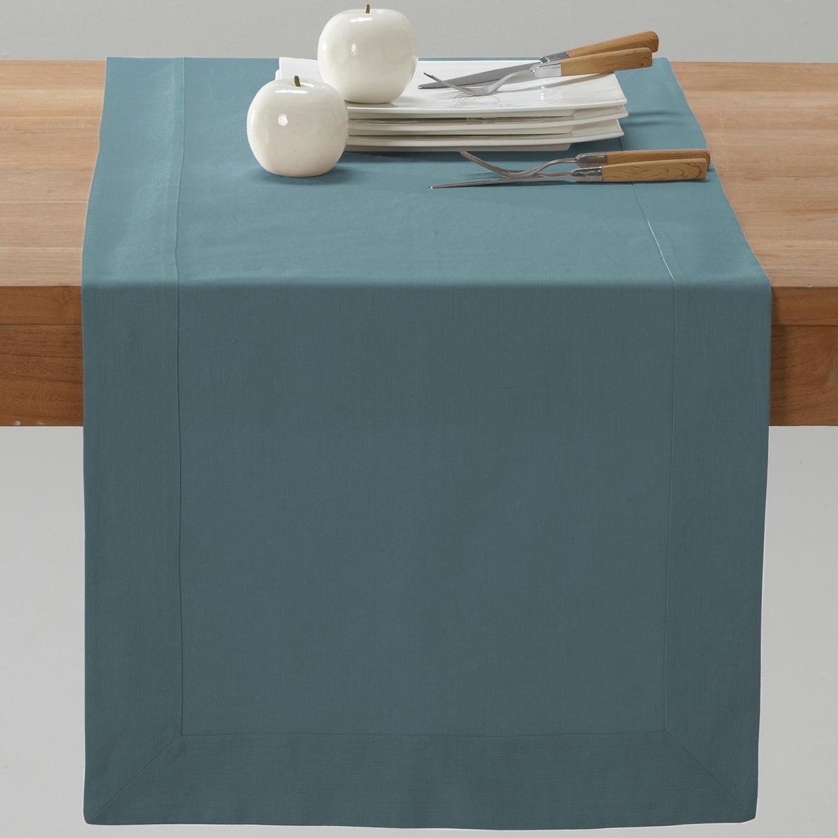 Дорожка La Redoute Столовая из смесовой ткани из льна и хлопка BORDER 50 x 150 см синий комплект из салфеток из la redoute льна и хлопка border 45 x 45 см бежевый