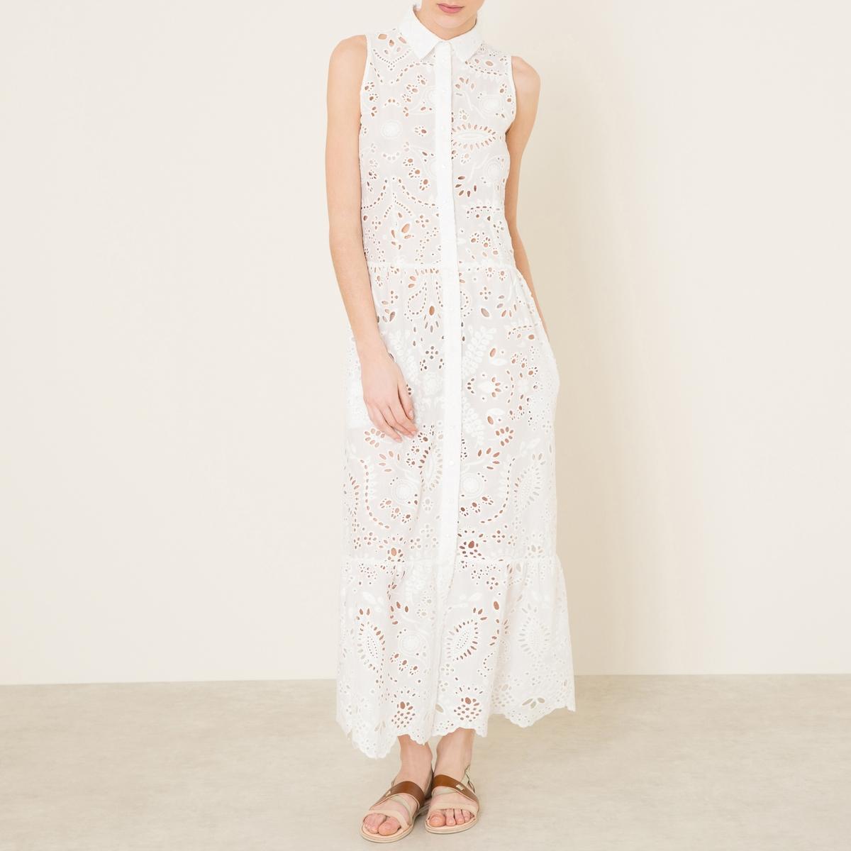 Платье BIKINIСостав и описание Материал : 100% хлопокДлина : 140 см. для размера 36Марка : VALERIE KHALFON<br><br>Цвет: белый