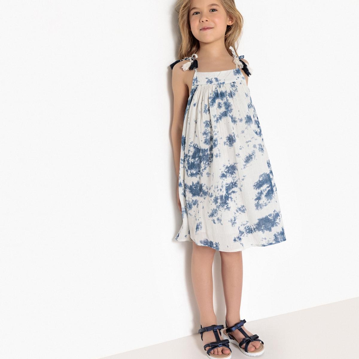 Платье на тонких бретелях tie & dye 3-12 лет