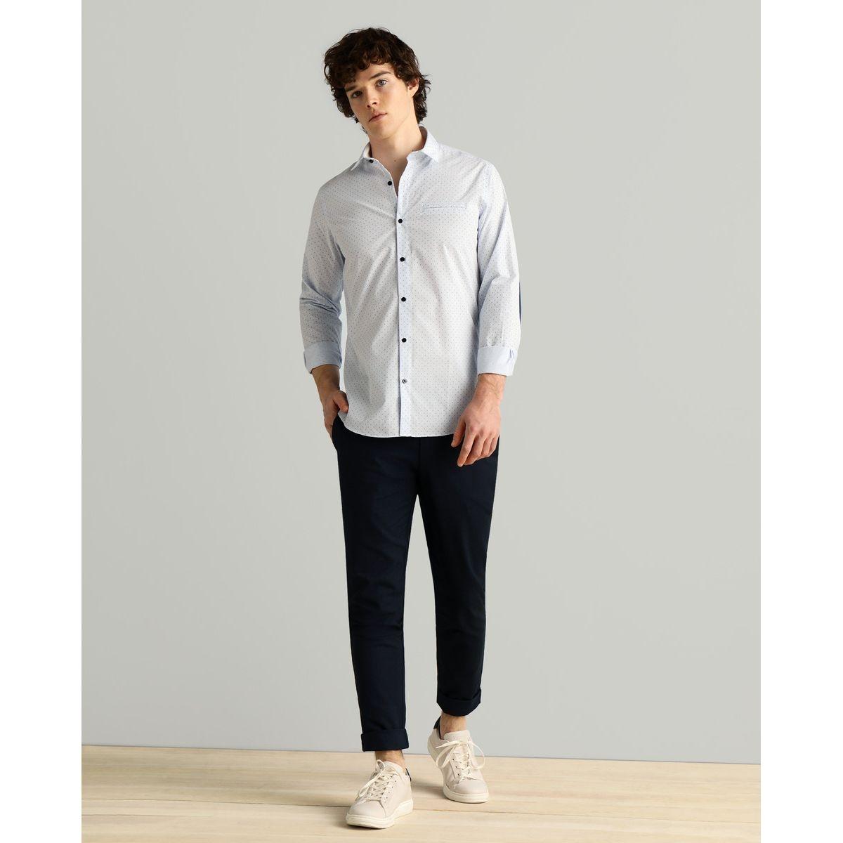 Chemise habillée slim bleu