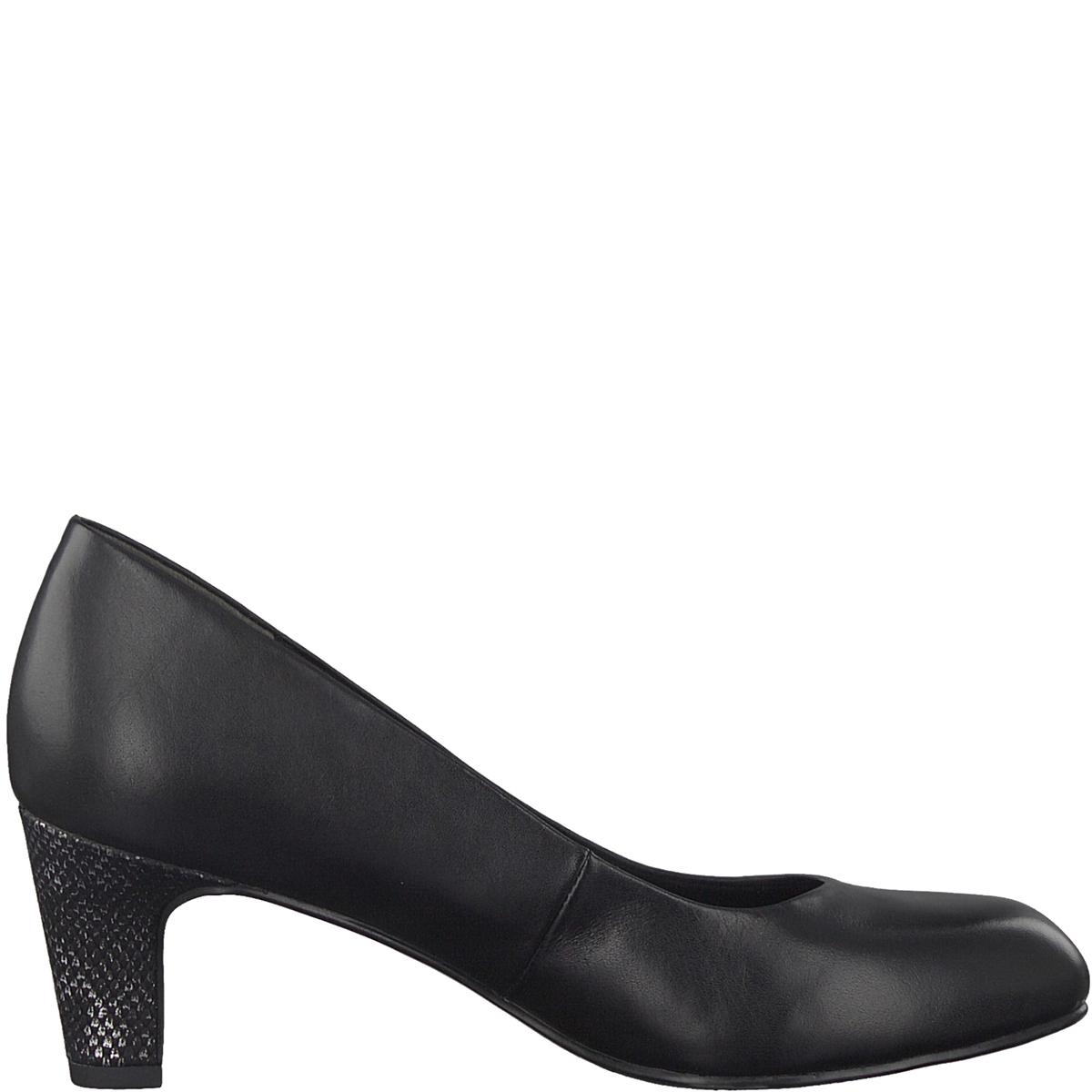 Туфли кожаные CaxiasДетали •  Широкий каблук •  Высота каблука : 6 см •  Застежка : без застежки •  Круглый мысокСостав и уход •  Верх 100% кожа •  Подкладка 50% синтетического материала, 50% текстиля •  Стелька 100% синтетический материал<br><br>Цвет: черный