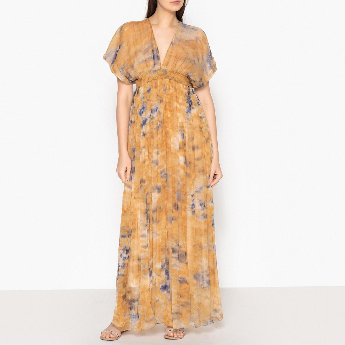 Платье длинное струящееся с рисунком ARIZONA платье с рисунком vestido conkerberry