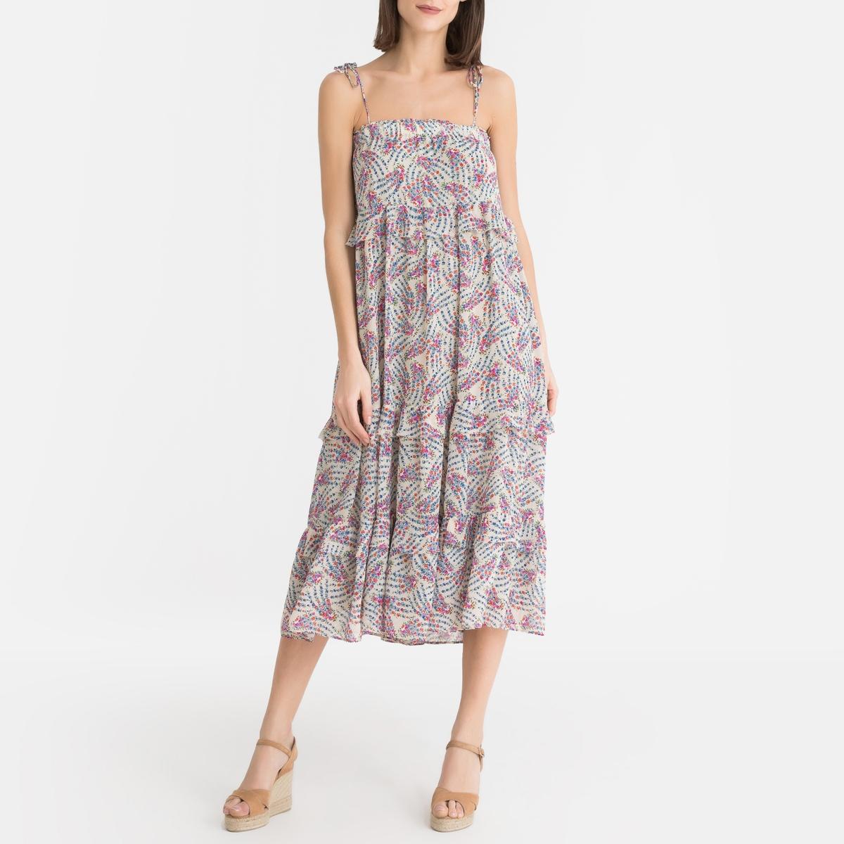 Платье La Redoute С цветочным принтом FAYE S/M разноцветный