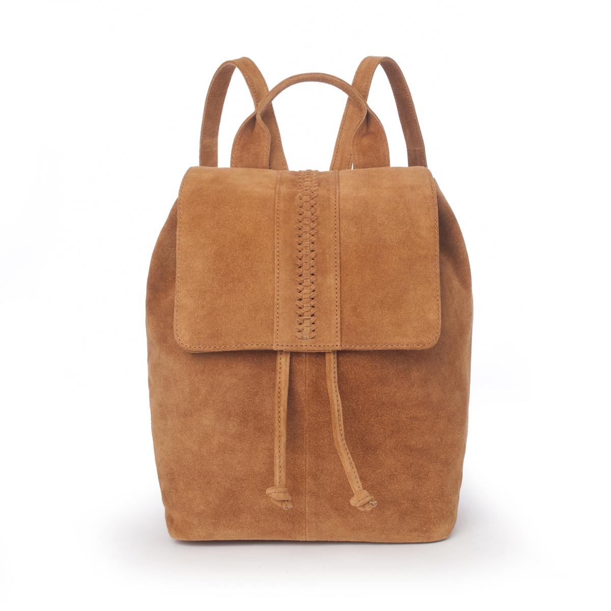 Рюкзак из невыделанной кожи от La Redoute
