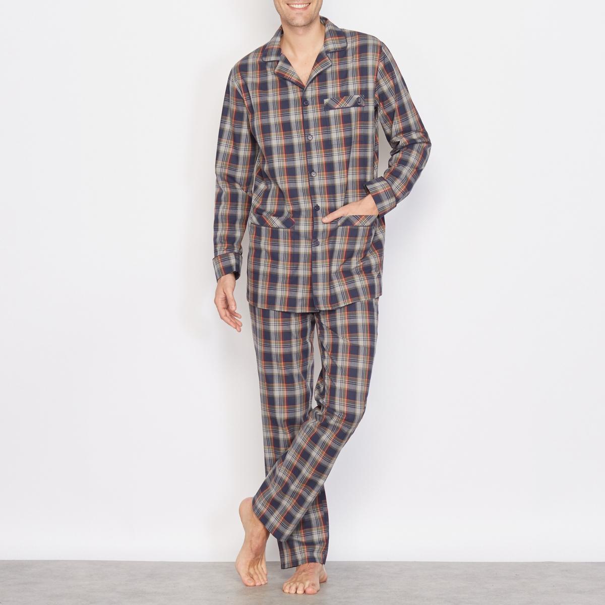 Пижама в клетку, 100% хлопка