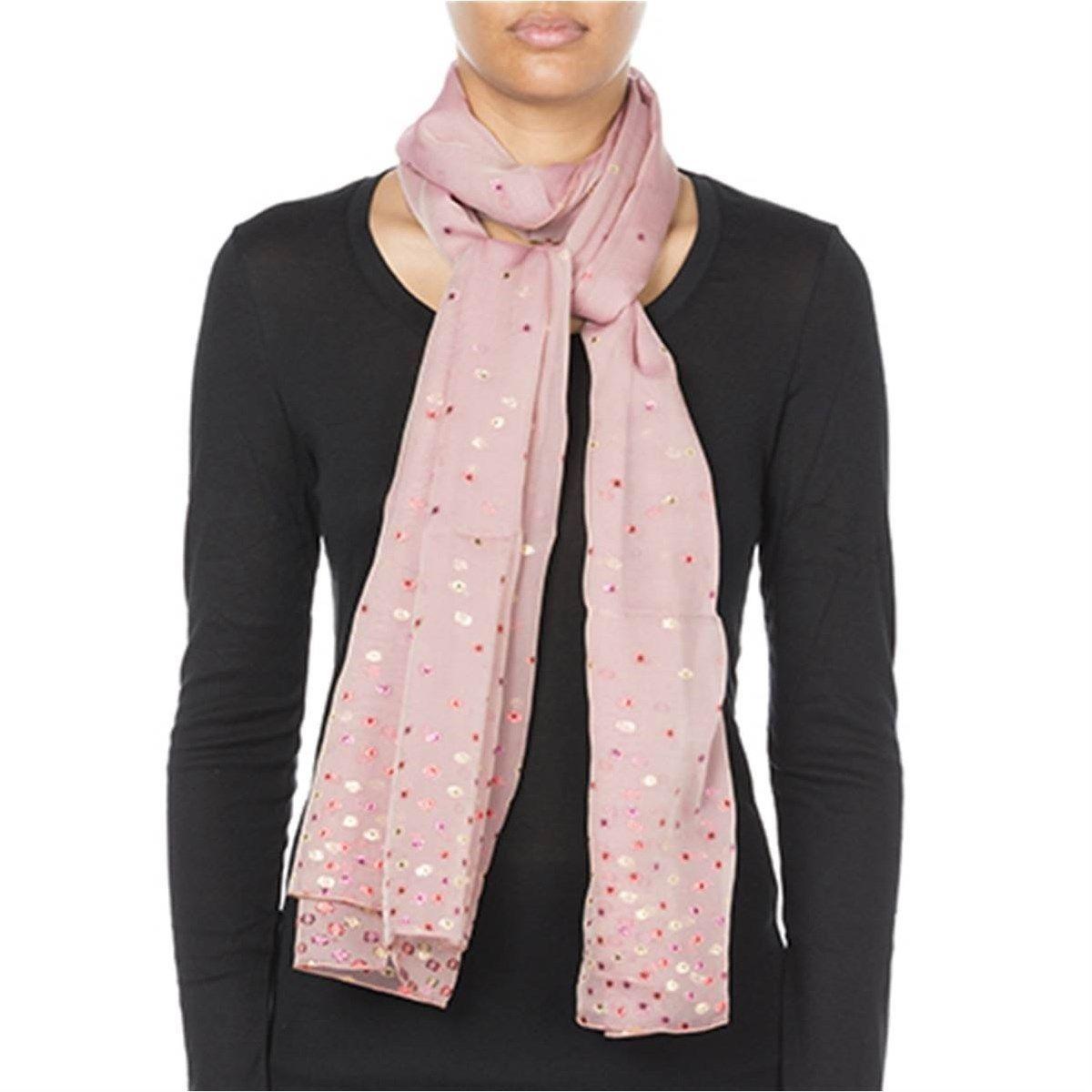Foulard en mousseline de soie et Fil textile® Moonlight