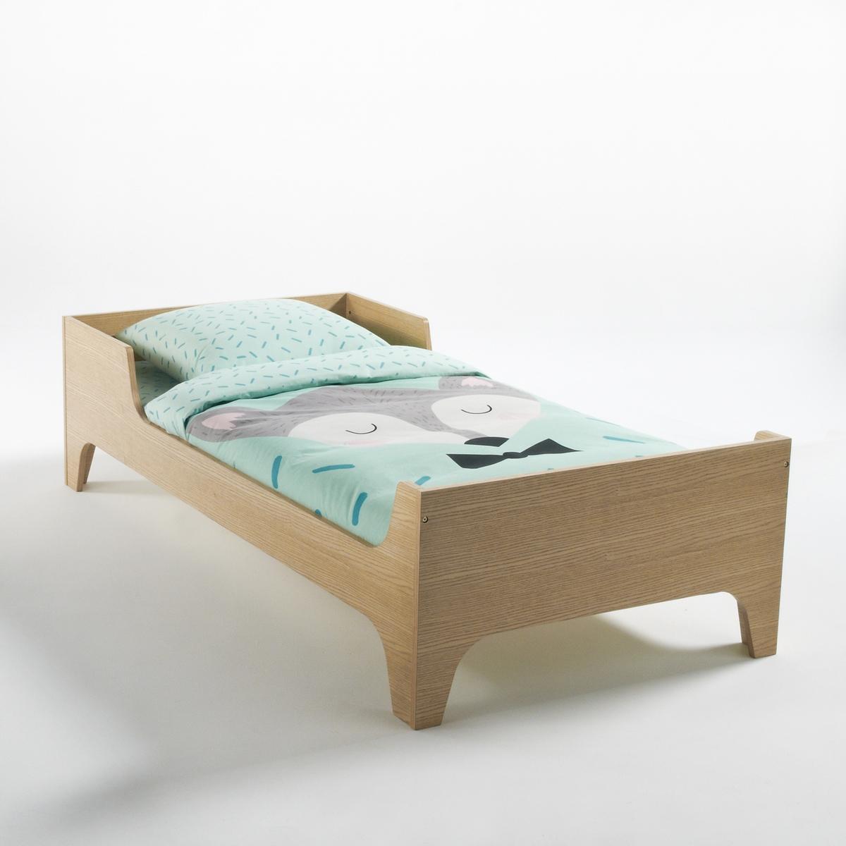 Кровать La Redoute Детская с основой под матрас Elira 90 x 190 см каштановый кровать la redoute с основой под матрас trianon 140 x 190 см белый
