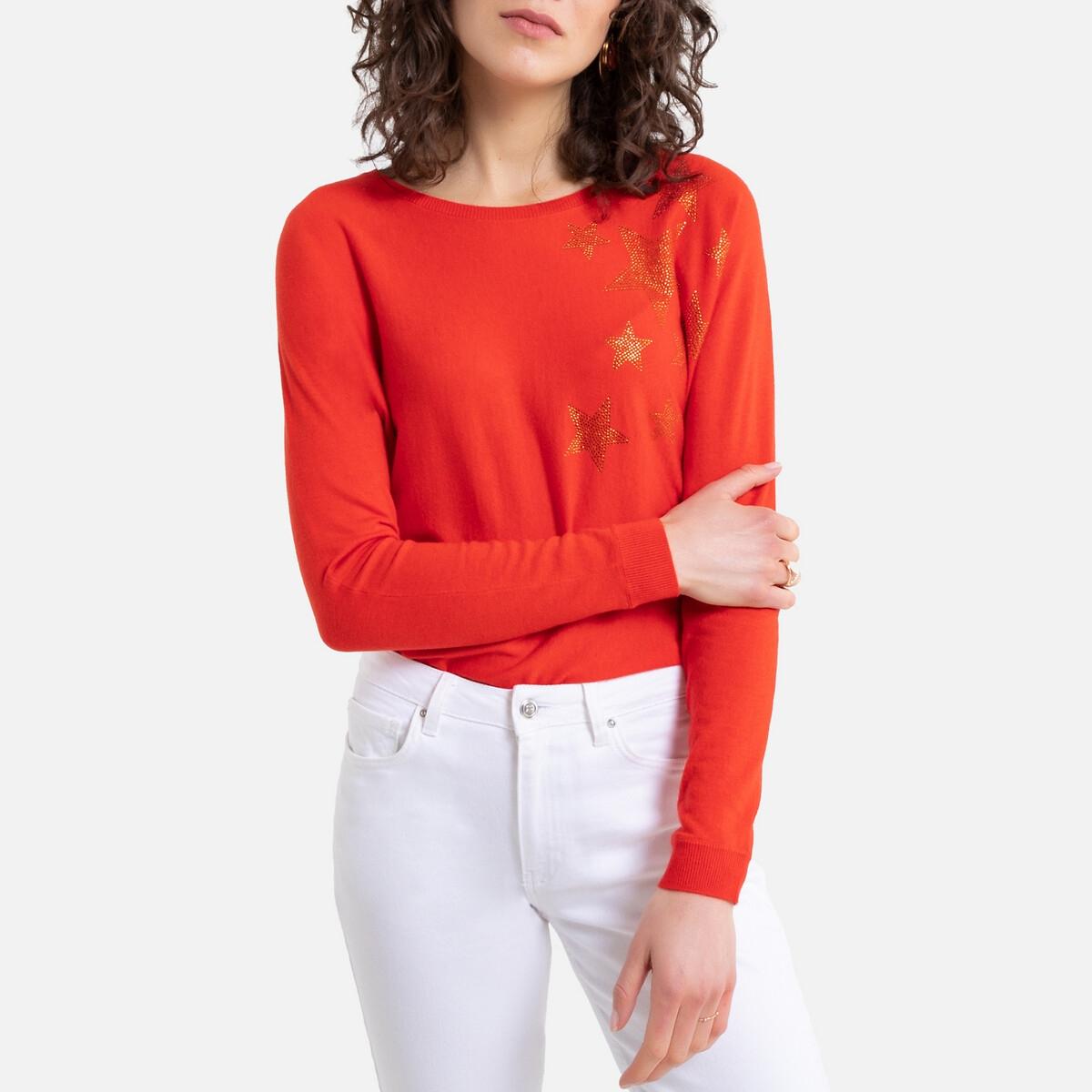 цена Пуловер La Redoute С длинными рукавами и V-образным вырезом Munshaku 2(M) оранжевый онлайн в 2017 году