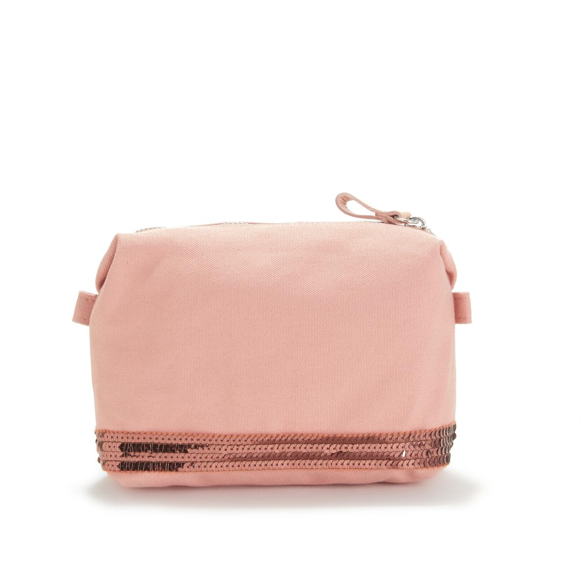 Сумка-косметичка La Redoute Из ткани с блестками единый размер розовый сумка la redoute из ткани с блестками h единый размер черный