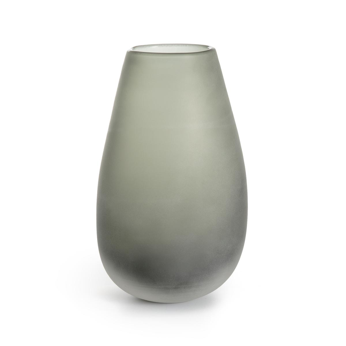 Ваза La Redoute Из стекла с обсыпкой Выс см Callipe единый размер серый