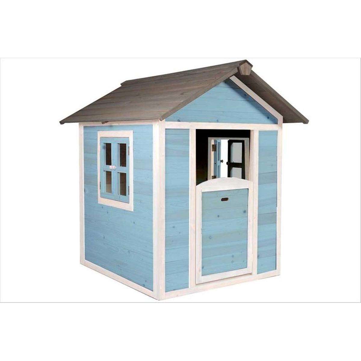 Maisonnette en bois bleue Sunny Lodge