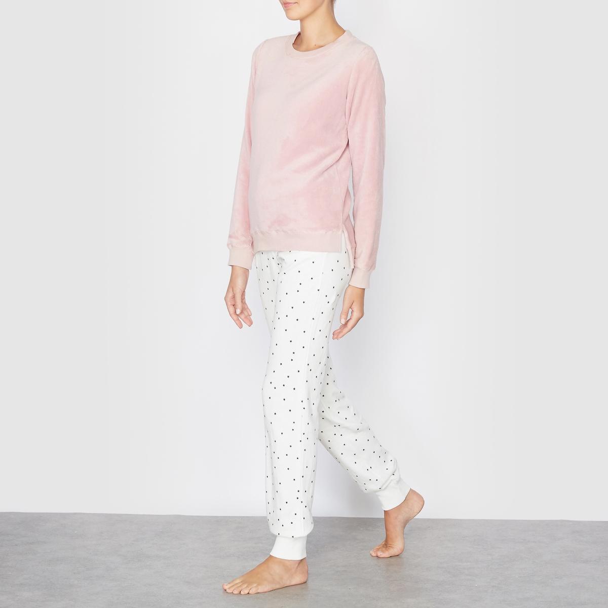 Пижама из двух материалов