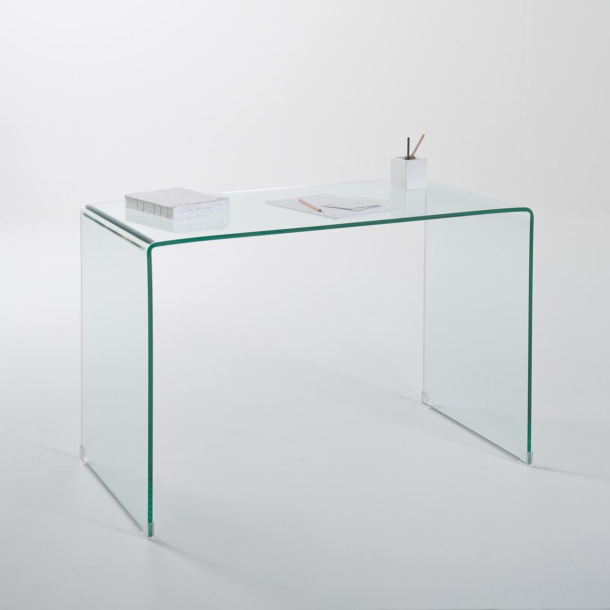 Стол La Redoute Письменный из закаленного стекла Joan единый размер зеленый