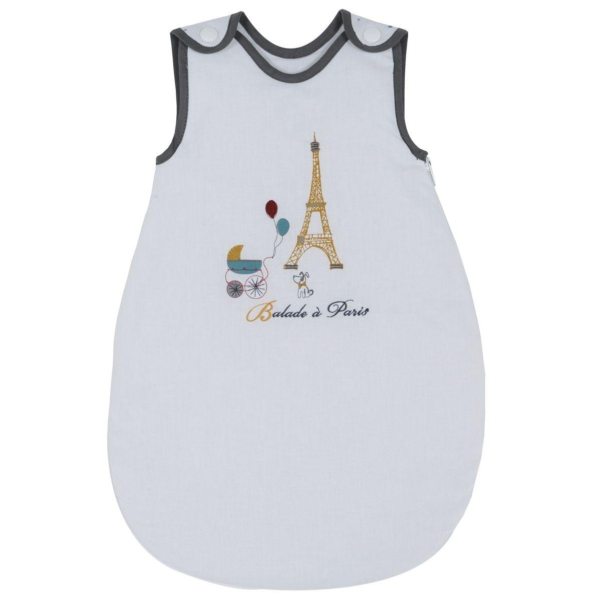 Gigoteuse nourrisson P'tit Basile Collection 'Little Paris' - 0-1 mois - Blanc