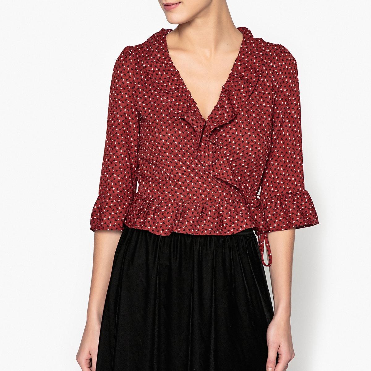 Блузка с рисунком и круглым вырезом DORA от La Redoute