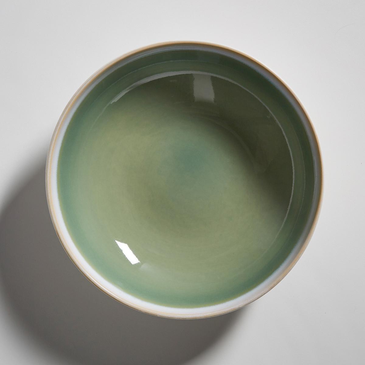 4 тарелки глубокие из керамики, D?onie4 тарелки глубокие D?onie La redoute Int?rieurs . Тарелки из керамики в очень насыщенных и ярких тонах   . Контрастные края и однотонная центральная часть с белым матовым контуром. Характеристики 4 глубоких тарелок D?onie :- Глубокие тарелки из керамики- Диаметр : 17,8 см    - Можно использовать в микроволновой печи и мыть в посудомоечной машине- Продаются в комплекте из 4 штукНайдите комплект посуды D?onie на нашем сайте .<br><br>Цвет: зеленая мята,синий