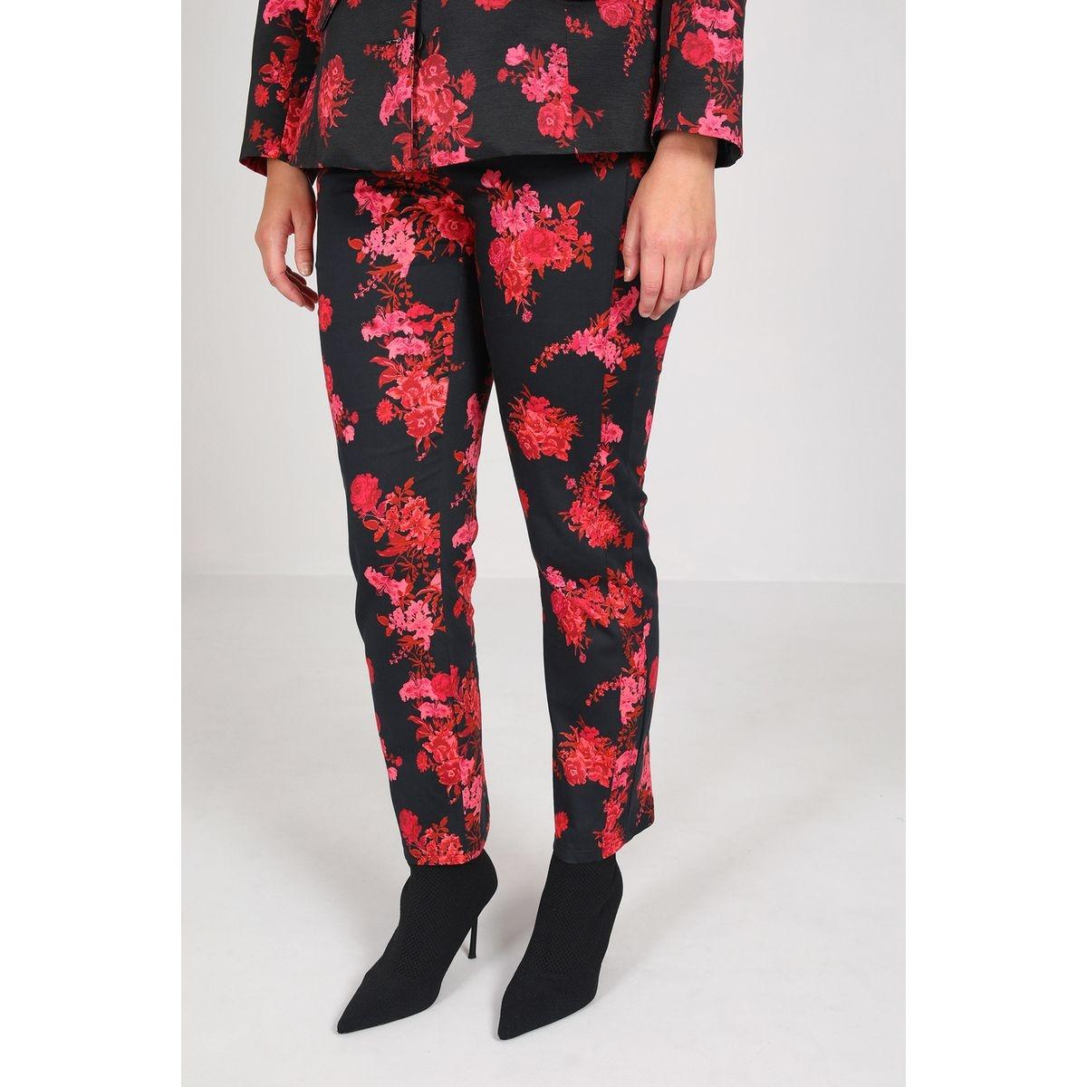 Pantalon en bengaline imprimé
