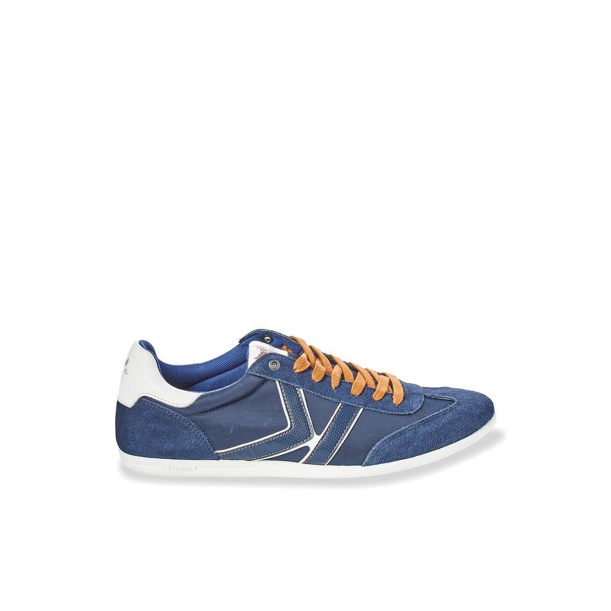 Кеды KaralДетали  •  Спортивный стиль •  Плоский каблук •  Высота каблука : 0 см •  Застежка : шнуровкаСостав и уход  •  Верх 40% свиной кожи, 60% текстиля<br><br>Цвет: синий морской