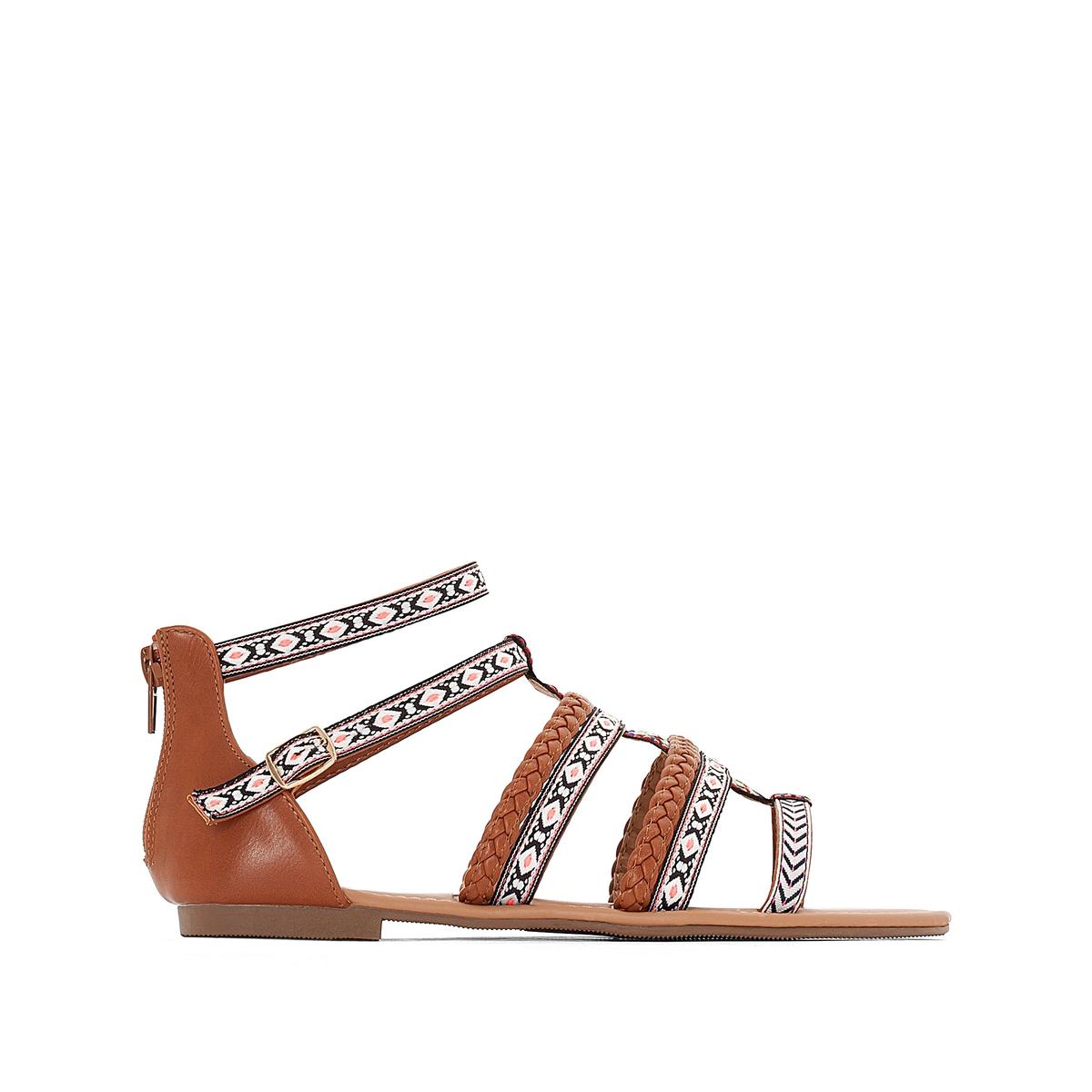 Босоножки на плоском каблуке 315721 цены онлайн