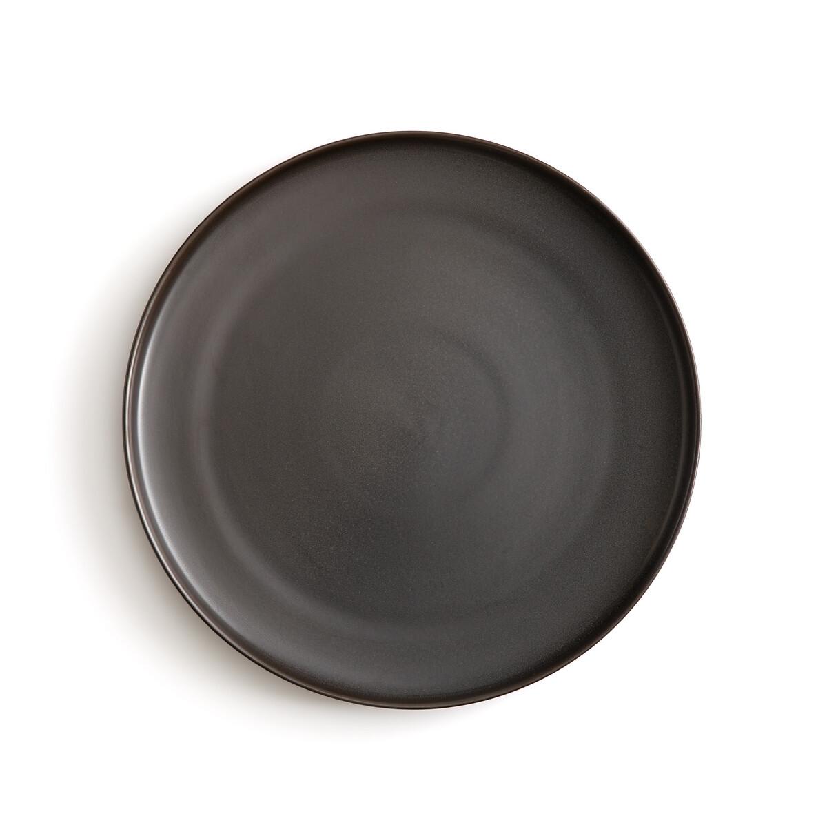 Фото - 4 мелкие LaRedoute Тарелки из глазурованной керамики Akira единый размер черный 4 десертные laredoute тарелки из глазурованной керамики anika единый размер серый