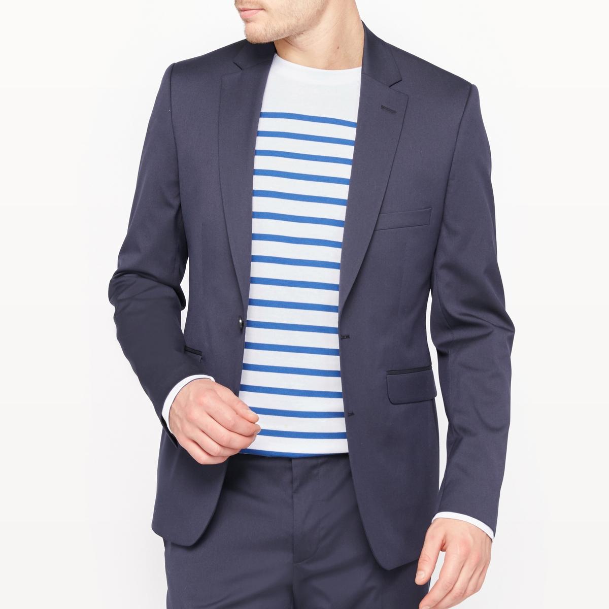Пиджак костюмный, узкий покройСостав и описание :Материал : 73% полиэстера, 24% вискозы, 3% эластана.Подкладка 100% полиэстерДлина : 75 см.Марка : R essentielУход :Сухая (химическая) чистка.<br><br>Цвет: антрацит,темно-синий<br>Размер: 44.54.56